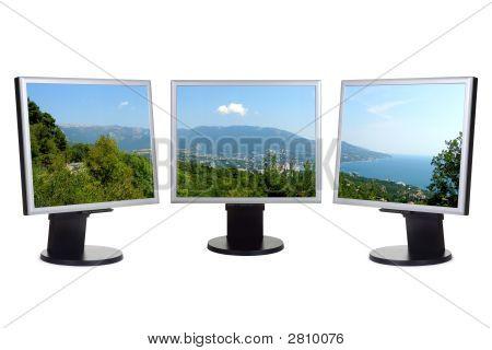 Küsten Blick auf Computer-Bildschirmen