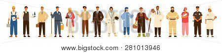 Collection Of Men And Women Of Various Occupations Or Profession Wearing Professional Uniform - Cons