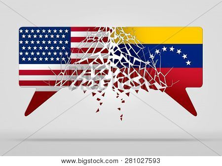 Venezuela United States Conflict And Diplomatic Crisis Or Venezuelan Political Situation As Uncertai