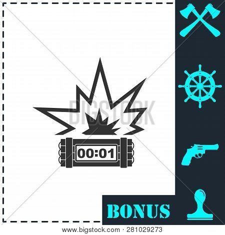 Big Bang Flash Icon Vector Photo Free Trial Bigstock
