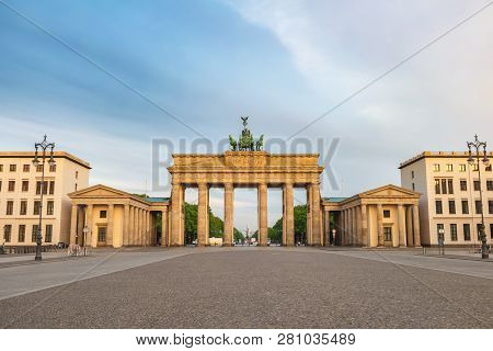 Berlin Germany, City Skyline At Brandenburg Gate (brandenburger Tor)