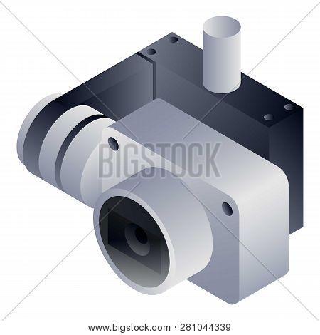 Drone Action Camera Icon. Isometric Of Drone Action Camera Vector Icon For Web Design Isolated On Wh