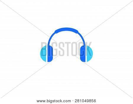 Headphones Or Headset For Customer Services Help Logo Design