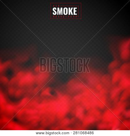 Red Smoke. Mist Red Powder Clouds Smoking Spooky Dusty Fog Condensation Transparent Smog Texture Iso