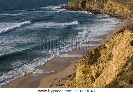 beautiful beach of Praia Pequena in the south of portugal poster