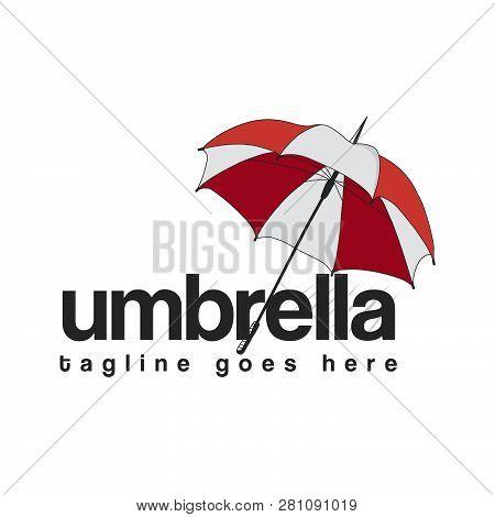 Umbrella Logo Icon Isolated On White Background. Umbrella Icon Simple Sign. Umbrella Icon Trendy And