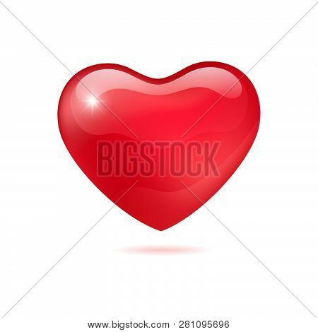 Illustration 3d Icon Of Red Heart, Heart Icon. Heart Icon Art. Heart Icon Eps. Heart Icon Image. Hea