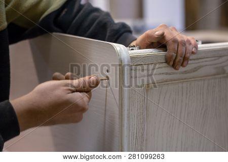 Making Furniture From Wood. Work Carpenter. Carpentry Tools.