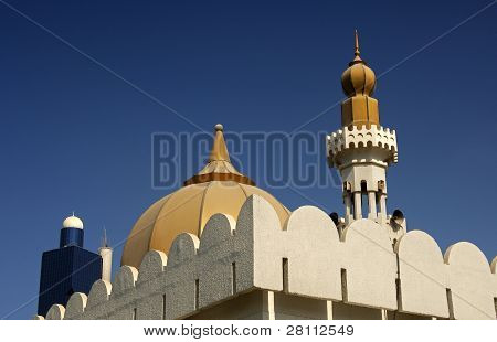 dome and minaret of a mosque