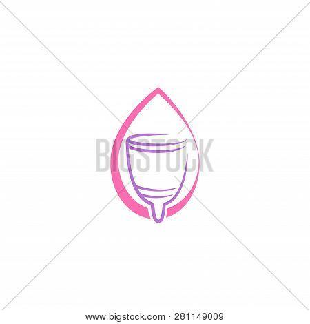 Menstrual Cup. Menstrual Cup Vector. Menstrual Cup icon Vector. Menstrual Cup symbol. Menstrual Cup illustrations. Menstrual Cup design. Menstrual Cup Logo. Vaginal cup. Menstrual Cup vector illustration isolated on white background.