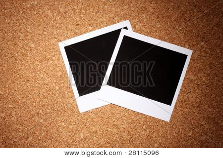 Photo paper on ?ork background