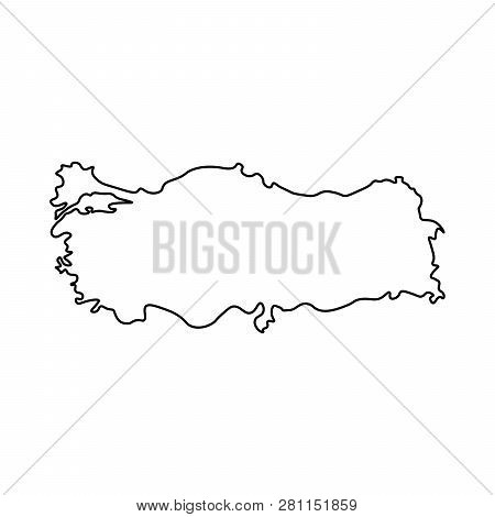 Map Turkey - Outline Vector & Photo (Free Trial) | Bigstock