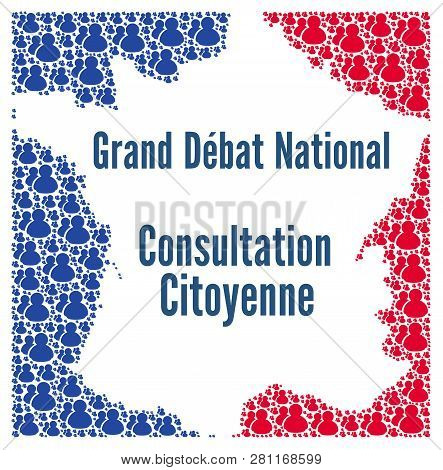 Great national debate and citizen consultation in France poster