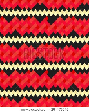Coral Snake Skin Texture Print Design. Seamless Pattern With Snakeskin,  Animal Print Seamless Backg