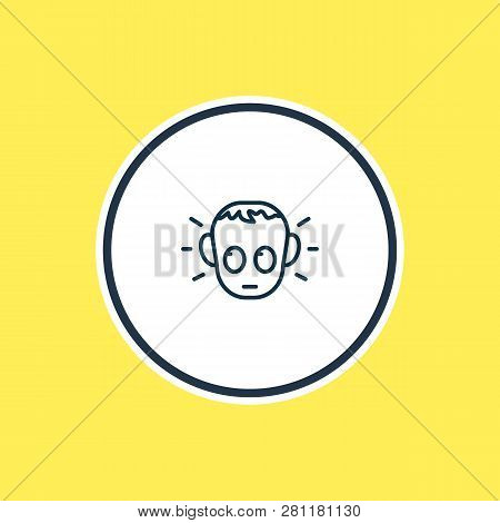 Vector Illustration Of Guilty Icon Line. Beautiful Emoticon Element Also Can Be Used As Offence Icon