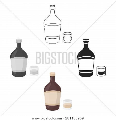 Liqueur Icon In Cartoon Style Isolated On White Background. Alcohol Symbol Stock Vector Illustration