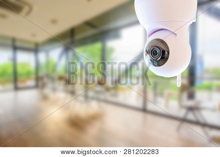 Ip Camera In The Coffee Shop  / Ip Camera