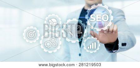 Seo Search Engine Optimization Marketing Ranking Traffic Website Internet Business Technology Concep