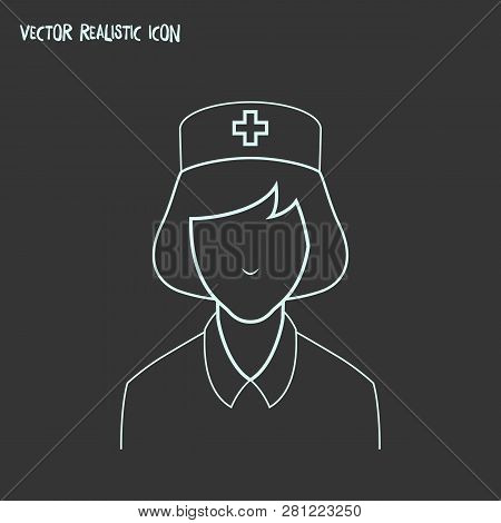 Nurse Icon Line Element. Vector Illustration Of Nurse Icon Line Isolated On Clean Background For You