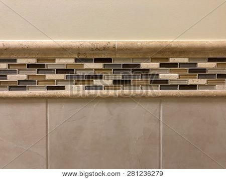 Tiles. Bathroom wall tiles with grout. Bathroom decor tiles. Glass tiles installed to beautify bathroom.  Horizontal bathroom tiles. Wall or floor bathroom tiles. bathroom shower base. bathroom tiles.