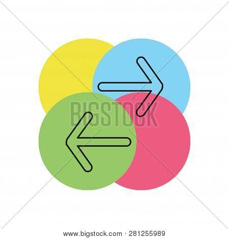 Exchange Logo For Business Company. Simple Exchange Logotype Idea Design. Corporate Identity Concept