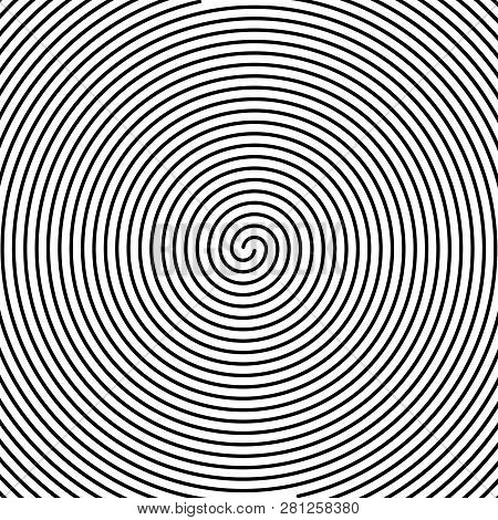Hypnos Circles Concentric. Abstract Concentric Circles Texture. Vector Illustration. Hypnotic Swirl