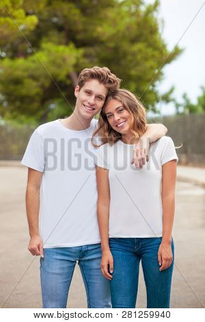 blank t-shirts for printing publicity or advertising
