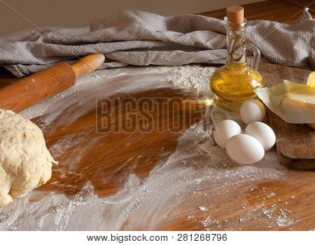 Dough on the table