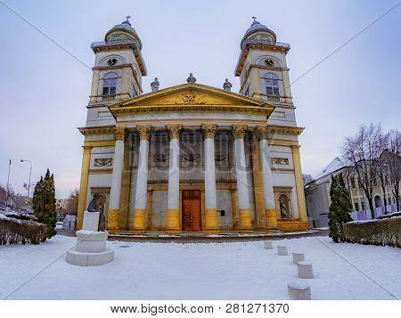 Religious Architecture Of Romano - Catholic Bishopric Church In Satu Mare, City Of Romania