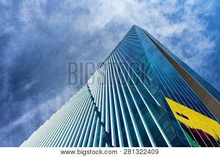 Mexico City, Mexico - January 1, 2019 Modern High Rise Building Mexico City Mexico. Also The Reforma