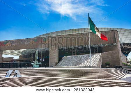 Mexico City, Mexico - January 1, 2019 National Auditorium Sunshine Mexico City Mexico.  Largest Ente