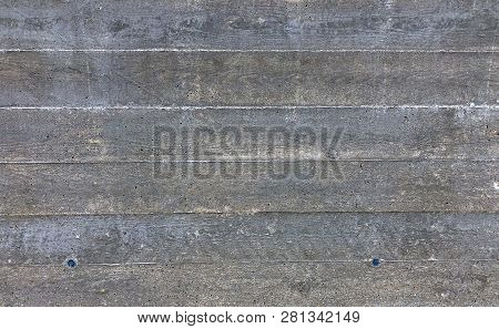 Texture Of Gray Biton Cement After Wooden Formwork
