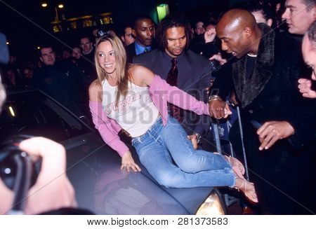 Amsterdam, The Netherlands - Sept 18, 1999: Mariah Carey Arriving At A Music Store To Sign Her New A