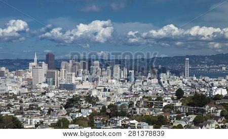 San Francisco, California, Usa, The Downtown At The High Noon
