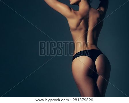 Cellulite - Skin Problem And Body Care. Big Ass. Buttocks After Treatment. Buttocks Of Girl In Pants
