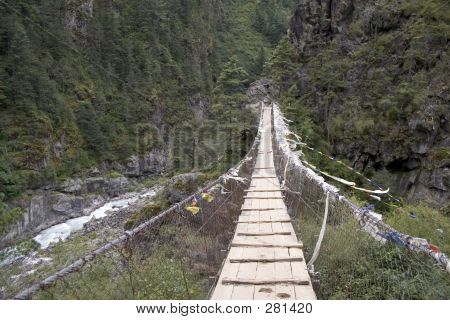 Long Suspension Bridge Nepal