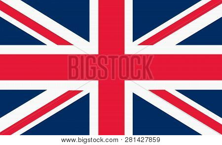 Union Flag Or Union Jack When At Sea Of Great Britain