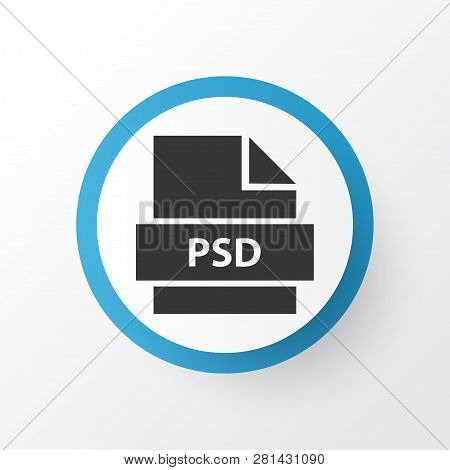 Psd icon symbol. Premium quality isolated directory element in trendy style. poster