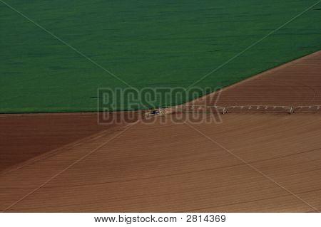 Center Pivot Irrigation - Aerial View