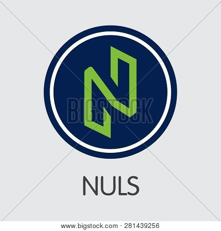 Nuls - Nuls. The Logo Of Cryptocurrency Or Market Emblem.