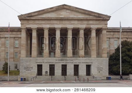 Washington DC / United States - January 13 2015: Donald W. Reynolds Center for American Art and Portraiture Building