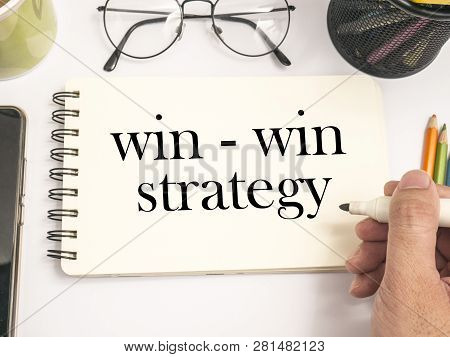 Win-win Strategy Words Concept