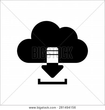 Download From Cloud Icon Isolated On White Background. Download From Cloud Icon Simple Sign. Downloa