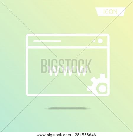 Www Icon Online Website Or Internet Icon Vector Isolated On White Background.