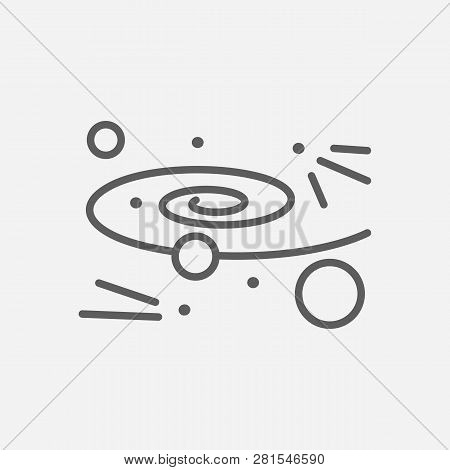 Cosmology Icon Line Symbol. Isolated Vector Illustration Of  Icon Sign Concept For Your Web Site Mob