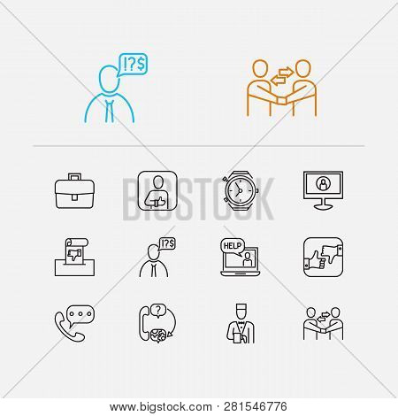Customer Service Icons Set. Client And Customer Service Icons With Business, Complaint And Service.