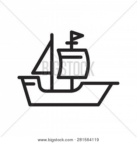 Boat Vector Icon On White Background. Boat Icon In Modern Design Style. Boat Vector Icon Popular And