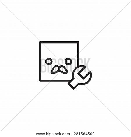 Configuration vector icon on white background. Configuration icon in modern design style. Configuration vector icon popular and simple flat symbol for web and graphic, mobile app, logo. Configuration icon illustration, EPS10. poster