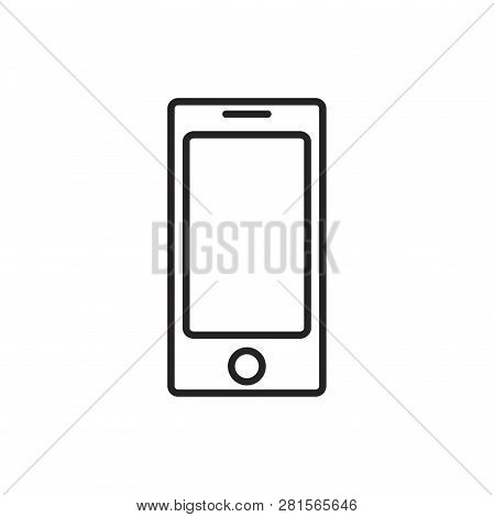 Smartphone Vector Icon On White Background. Smartphone Icon In Modern Design Style. Smartphone Vecto