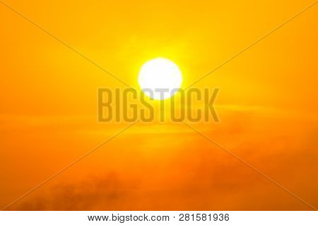 Global Warming From The Sun And Burning, Heat Wave Hot Sun, Climate Change, Pm2.5